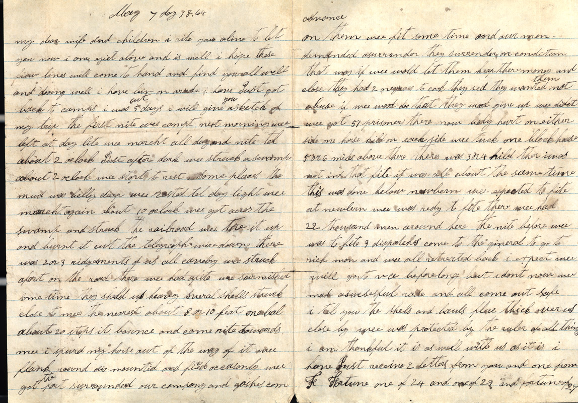 Silas stepp letters civil war letter writing about it at one point they spent the night in mud that was belly deep like the may 2 letter he writes of being tired of the war aljukfo Image collections