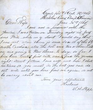 silas h stepp civil war letters