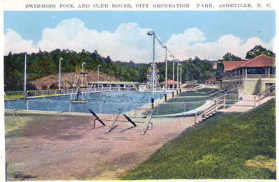 Swimming Pool And Club House City Recreation Park Asheville N C And015