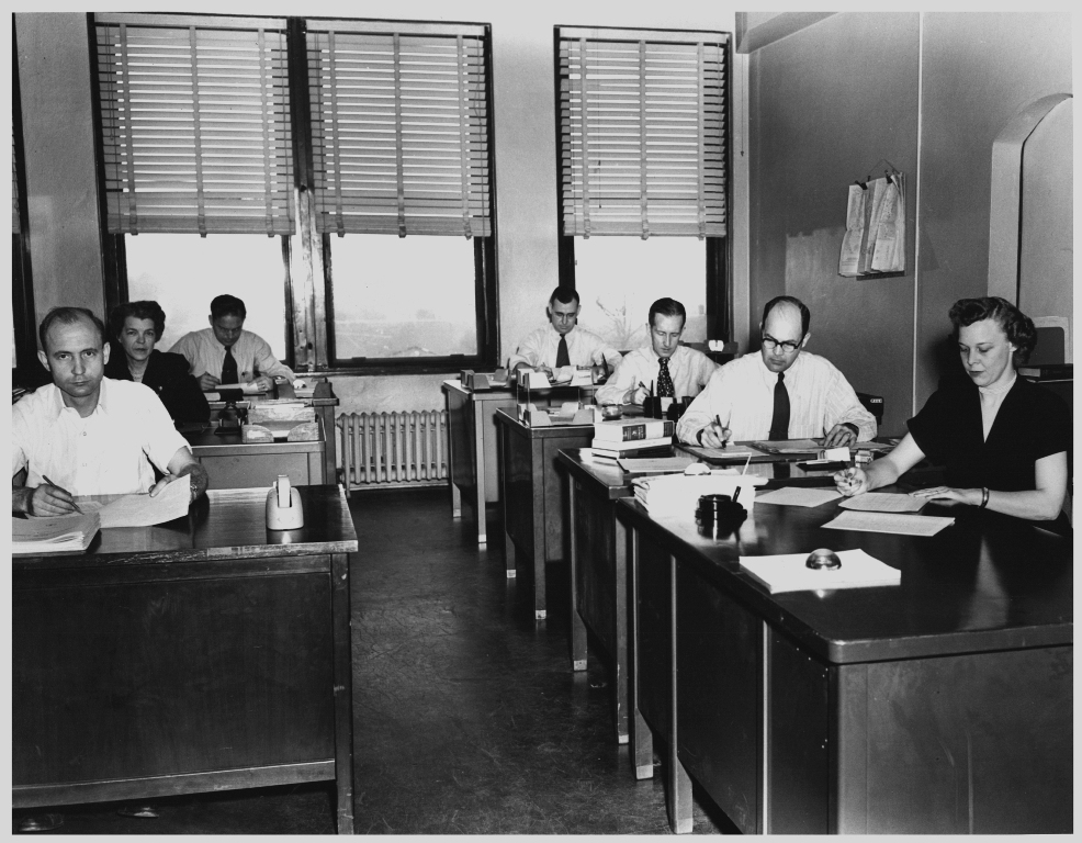 how the typical office looked in the 1950s